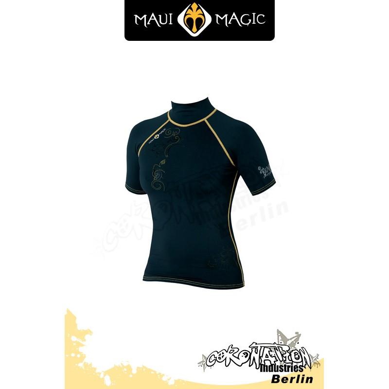 Maui Magic 2010 Frauen LUNA Rash Vest S/S Yellow