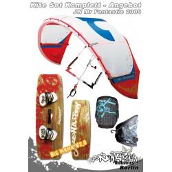 Kitesurf Set 2 JN Mr Fantastic Freeride/Freestyle Kite 12qm