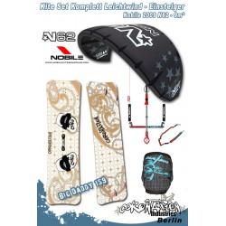 Kitesurf Set 2 vent léger-Einsteiger Nobile N62 9qm - black