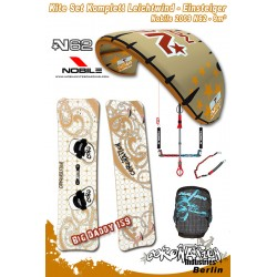 Kitesurf Set 2 vent léger-Einsteiger Nobile 2009 N62 9qm - gold