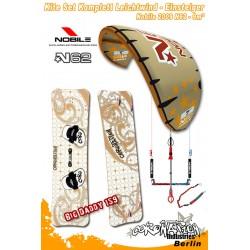 Kitesurf Set vent léger-Einsteiger Nobile 2009 N62 9qm - gold