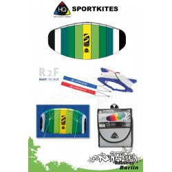 HQ Symphony Beach II 1.3 Lime Sportkites Powerkite