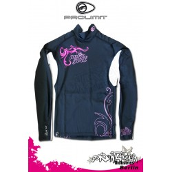 Prolimit Frauen Rash Vest Pure Girl LA Black