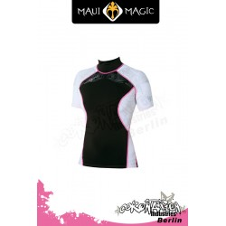 Maui Magic 2010 Frauen HANA Rash Vest S/S Pink