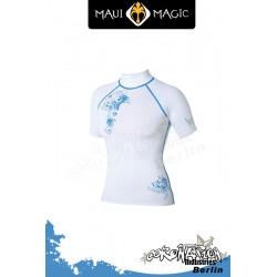 Maui Magic 2010 Frauen LUNA Rash Vest S/S Blue