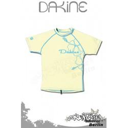 Dakine Frauen Rash Vest Leilani S/S Light Yellow