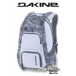 Dakine Duel Laptop-Schul-Rucksack White Grey Chop Shop