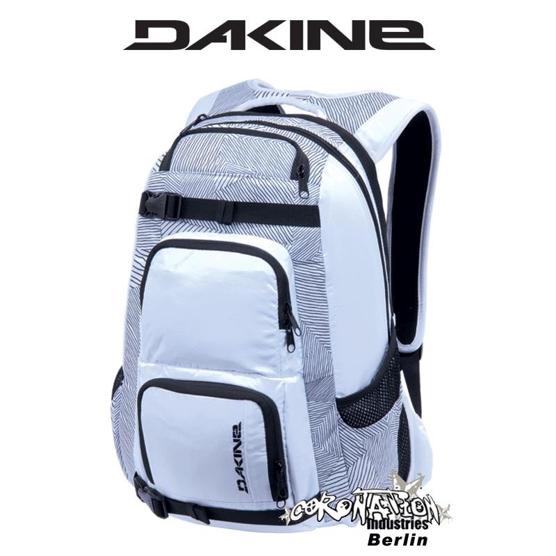 Dakine Duel Skate Laptop & Schul-Rucksack White Patches