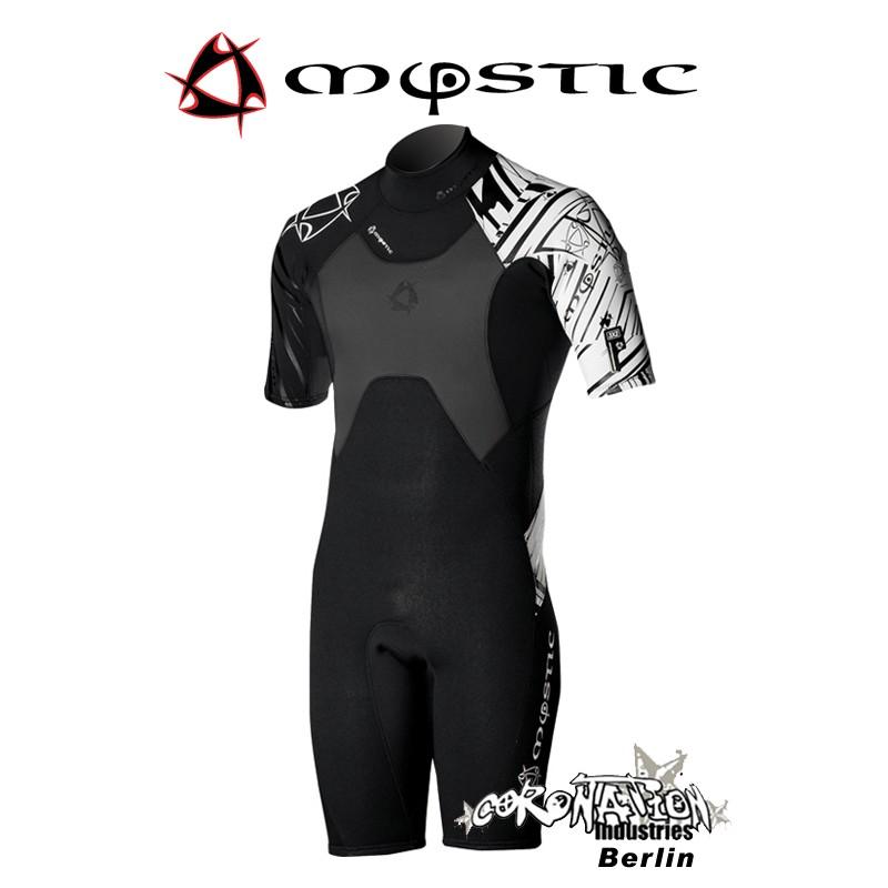 Mystic combinaison neoprène Crossfire Shorty 3/2 D/L Black/White