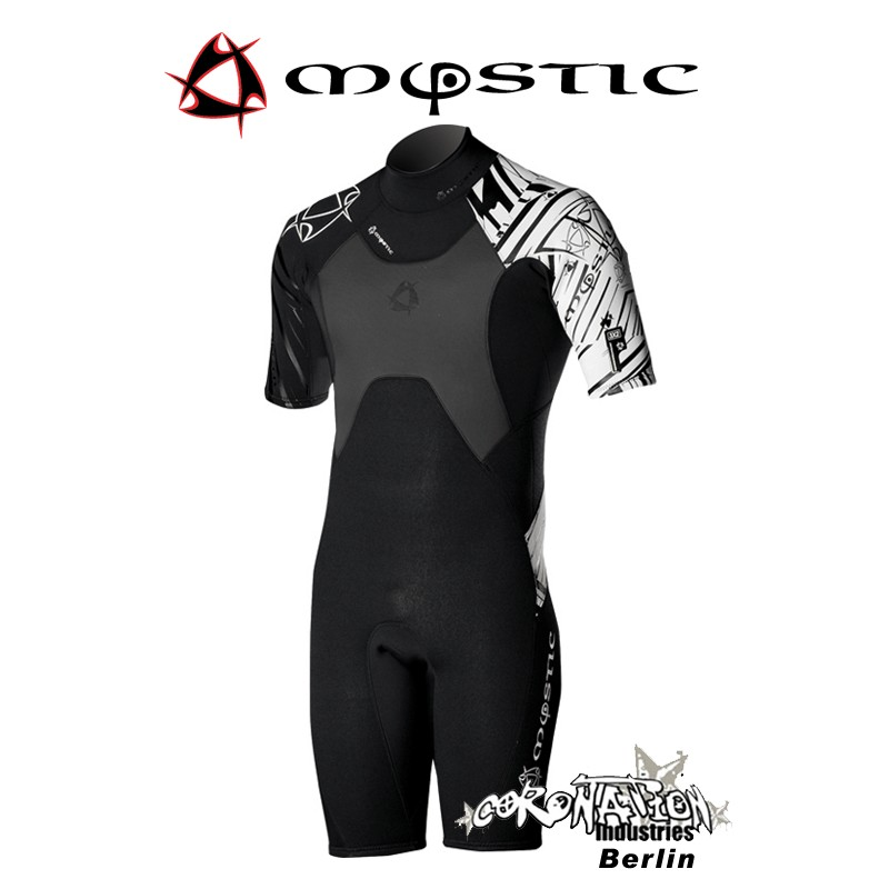 Mystic Neoprenanzug Crossfire Shorty 3/2 D/L Black/White