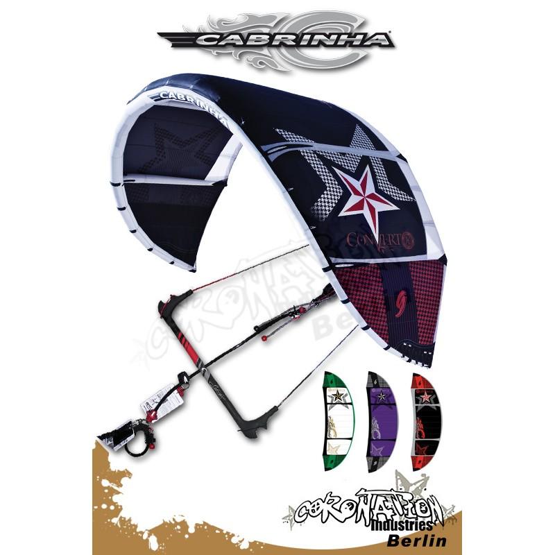 Cabrinha Convert 2010 Freeride-Kite 9qm avec barre