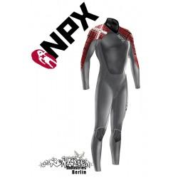 NPX Cult combinaison neoprène Dark Grey Red