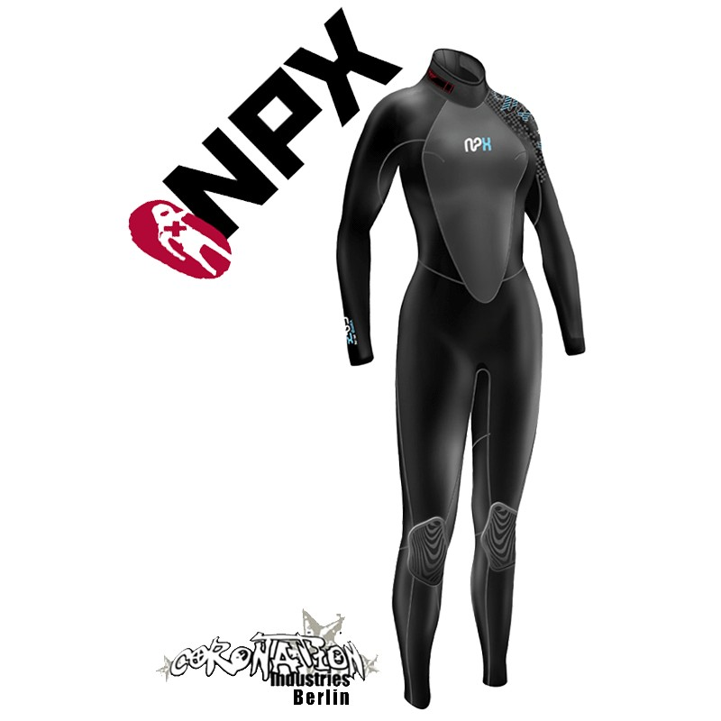 NPX Vamp Frauen Neoprenanzug Black Blue