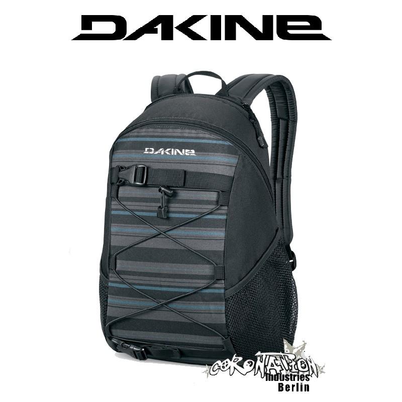 Dakine Wonder Black Stripes Skate Fashion-Street-Rucksack