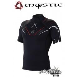 Mystic Crossfire Rash Vest S/S Black