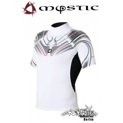 Mystic Crossfire Rash Vest S/S White