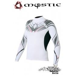 Mystic Crossfire Rash Vest L/S White