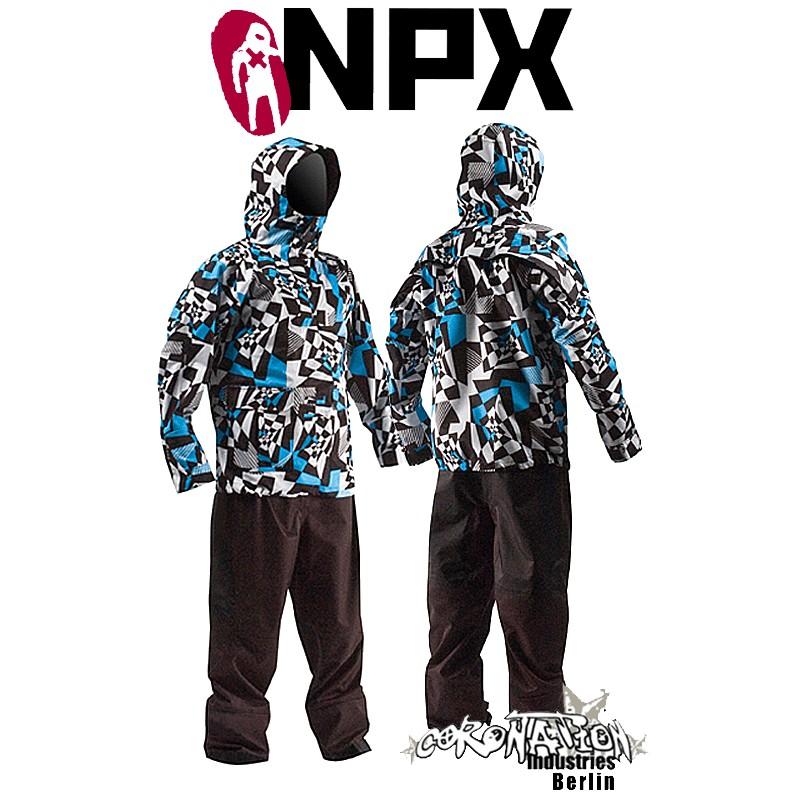NPX Lucifer Trockenanzug 2010 Blau-Weiß Test Promo Gebraucht