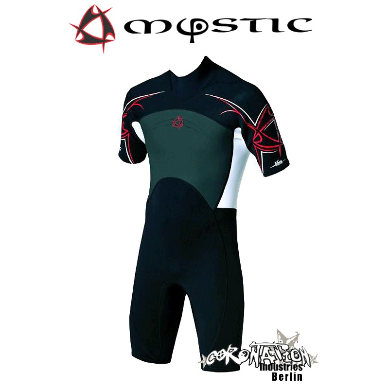 Mystic Neoprenanzug Shorty 3/2 D/L Black
