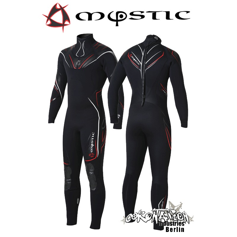 Mystic Neoprenanzug Crossfire Steamer 5/3 D/L Black/Red