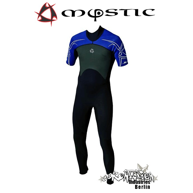 Mystic Neoprenanzug Shortarm 3/2 D/L Blue