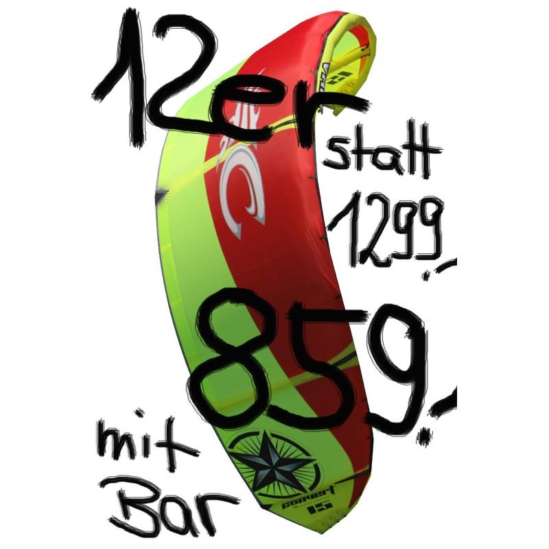 Cabrinha Convert 2009 IDS 12 Freeride-Kite komplett mit Bar