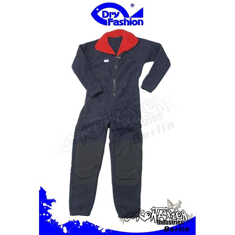 Dry Fashion Fleece Underall (360gr) pour Trockenanzug Marine/Rot