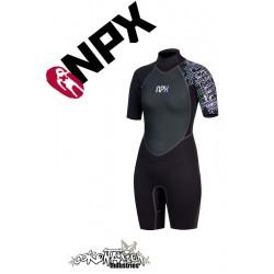 NPX Shorty Vamp Frauen Neoprenanzug Black Violet