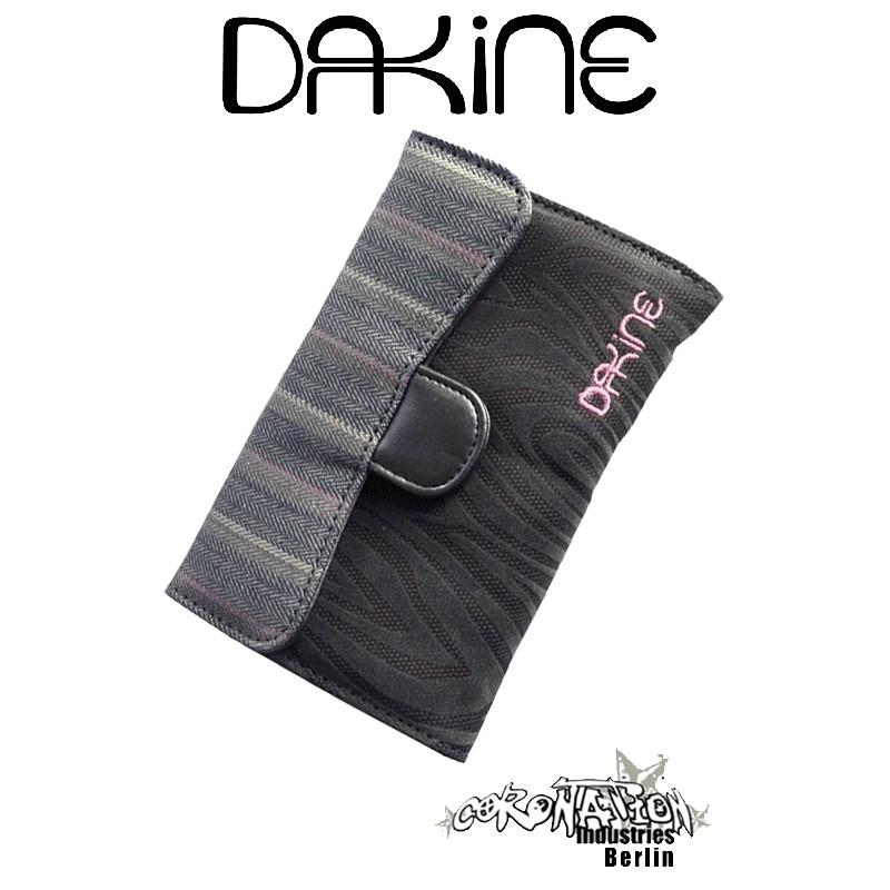 Dakine Lexi Girls Geldbörse Geldbeutel Wallet Brieftasche grey flocked