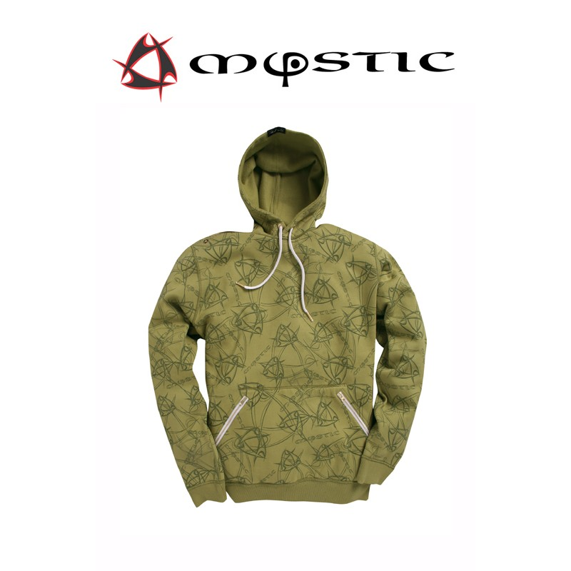 Mystic Star Onyx Sweat vert Olive capuchen Pullover