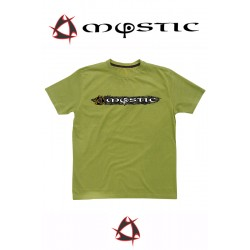 Mystic T-Shirt Paint Tee Single Jersey Men Green Olive