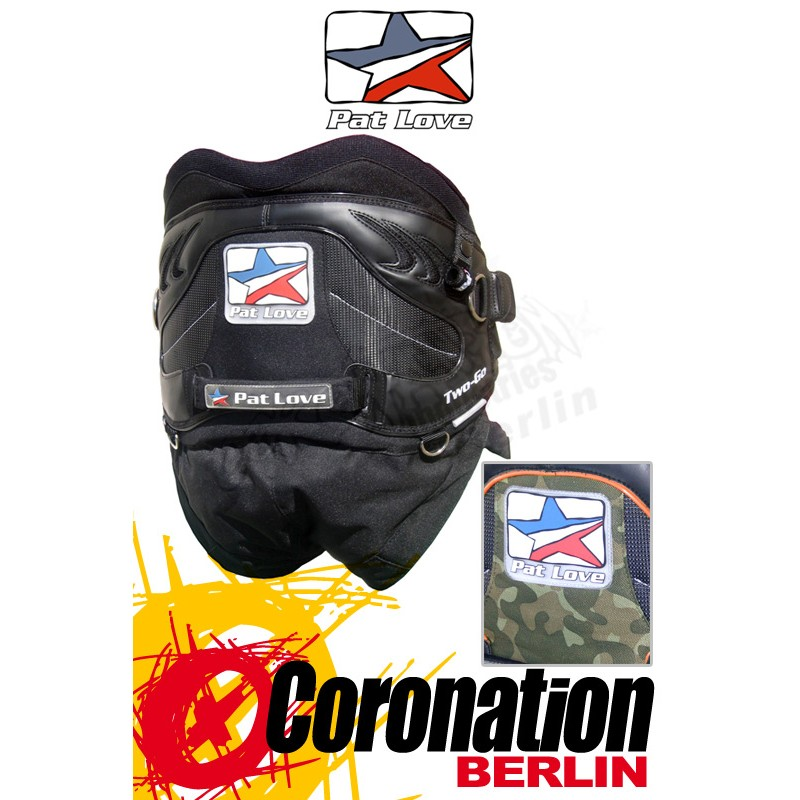 Pat Love Kite Harness Two go Camo/Black