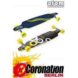 "Atom 36"" Drop Through Yellow Komplett Longboard"