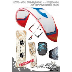 Kitesurf Set 3 JN Mr Fantastic Freeride/Freestyle Kite 8qm 2009