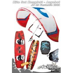Kitesurf Set 1 JN Mr Fantastic Freeride/Freestyle Kite 8qm 2009