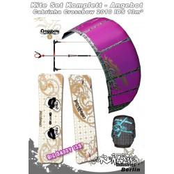 Kitesurf Set Cabrinha Crossbow IDS 13qm 2010 - lila/grau 2
