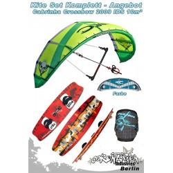 Kitesurf Set Cabrinha Crossbow IDS 10qm 2009 - blau/grau