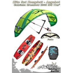Kitesurf Set Cabrinha Crossbow IDS 11qm 2009 - sand/schwarz