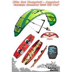 Kitesurf Set Cabrinha Crossbow IDS 11qm 2009 - sand/rot