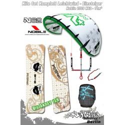 Kitesurf Set 2 Leichtwind-Einsteiger Nobile 2009 N62 11qm - gree