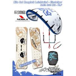 Kitesurf Set 2 light wind-Einsteiger Nobile 2009 N62 11qm - blue