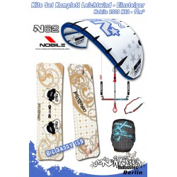 Kitesurf Set 2 vent léger-Einsteiger Nobile 2009 N62 11qm - blue