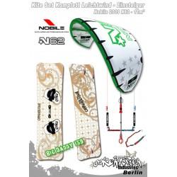 Kitesurf Set vent léger-Einsteiger Nobile 2009 N62 11qm - vert