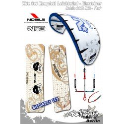 Kitesurf Set vent léger-Einsteiger Nobile N62 11qm - blue