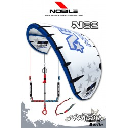 Nobile Kite N62 2009 11qm White/Blue Komplett mit 4 Leiner Bar