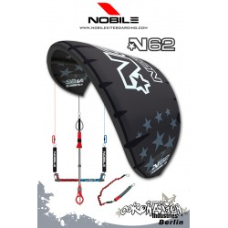 Nobile Kite N62 2009 9qm Black/Black Komplett mit 4 Leiner Bar