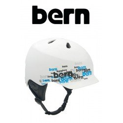 Bern Kite-Helm Watts Matte White Scatter