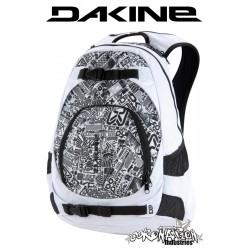 Dakine Explorer Snow-Skate-Schul-Laptop-Rucksack white chop