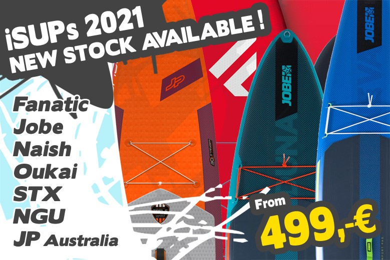 iSUP 2021 new stock. Fanatic, Jobe und JP SUP are now available online and in our Shop.