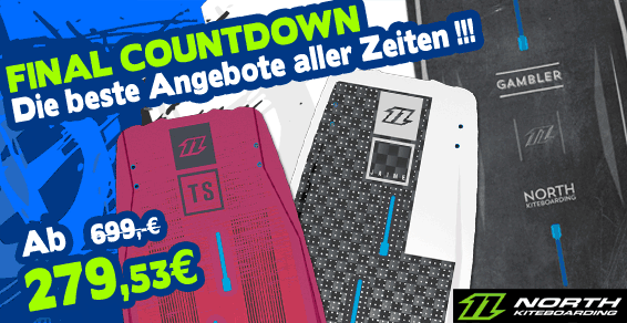 "North Kiteboarding - Kiteboards Angebote ""final countdown!"""